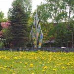 野幌グリーンモール噴水を囲む草花と新緑が超キレイ!