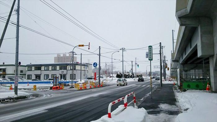 鉄東線・白樺通交差点