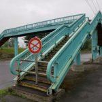 江別横断歩道橋が撤去される_旧江別小前に50年【江別市】