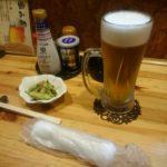 ビールを飲みながら江別市健康都市宣言を考える。野幌公民館向かい「味処 一(はじめ)」にて